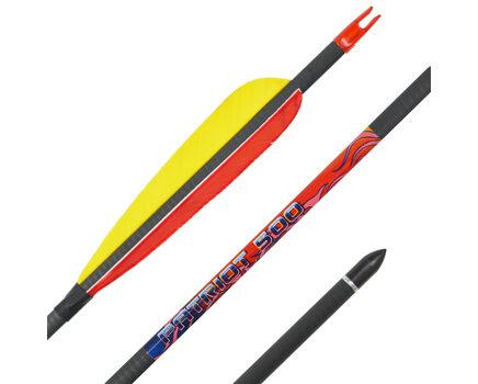 Купите карбоновые стрелы для традиционного лука Bowmaster Patriot 500 с натуральным оперением в интернет-магазине